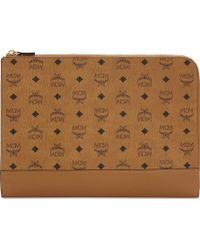 MCM - Claus Coated Canvas Document Case - Lyst