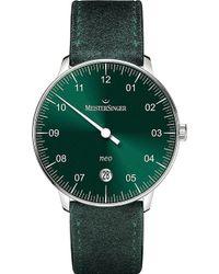 Meistersinger - Ne909n Neo Suede Watch - Lyst