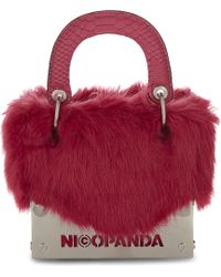 Nicopanda - Muffin Top Faux-fur Clutch - Lyst