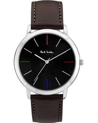 Paul Smith - Ma Stainless Steel And Leather Watch - Lyst
