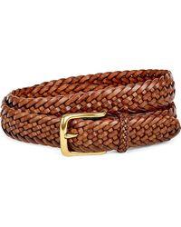Ralph Lauren Purple Label - Sportsman Braided Leather Belt - Lyst