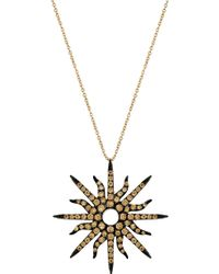 Christina Debs - Sunshine 18ct Pink-gold And Diamond Pendant - Lyst
