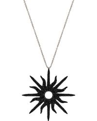 Christina Debs - Sunshine 18ct White-gold And Diamond Pendant - Lyst