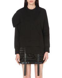 Nicopanda - Deconstructed Stretch-jersey Sweatshirt - Lyst