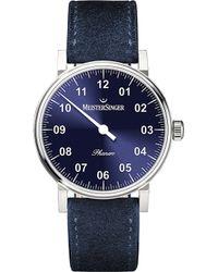 Meistersinger - Ph308 Phanero Suede Watch - Lyst