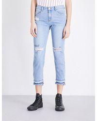 Steve J & Yoni P - Frayed-hem Skinny Cropped Mid-rise Jeans - Lyst