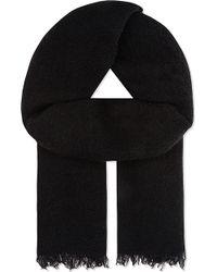 Rick Owens - Textured Wool Scarf - Lyst