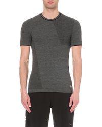 Brandblack - Perforated Wool-jersey T-shirt - Lyst