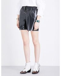 Toga - High-rise Laminated Shorts - Lyst