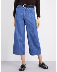 MASSCOB - Wide-leg Cropped High-rise Jeans - Lyst