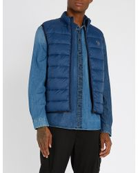 Paul Smith - Zebra-stitched Padded-shell Gilet - Lyst