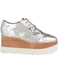 Stella McCartney - Elyse Indium Flatform Derby Shoes - Lyst