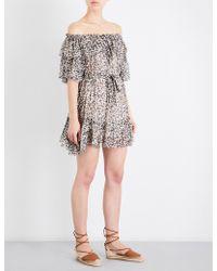 Zimmermann - Prima Cherry Silk-chiffon Dress - Lyst
