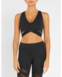 GOOD AMERICAN - Lace Stretch-jersey Sports Bra - Lyst