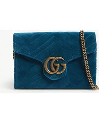 Gucci - Marmont Velvet Shoulder Bag - Lyst