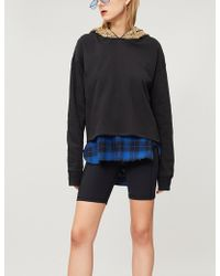 The Kooples - Sequin-embellished Cotton Hoody - Lyst