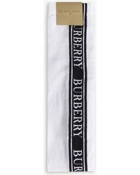 Burberry - Logo Nylon-blend Knitted Socks - Lyst