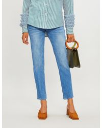 SLVRLAKE Denim - Lou Lou Skinny Mid-rise Cropped Jeans - Lyst