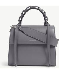 Elena Ghisellini - Titanium Grey Angel Small Leather Bag - Lyst