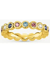 Thomas Sabo - Kingdom Of Dreams 18ct Yellow Gold Plated Silver Royalty Eternity Ring - Lyst