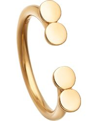 Astley Clarke - Stilla Double Disc 18ct Yellow Gold-plated Ring - Lyst