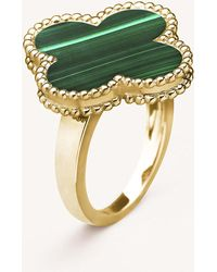 Van Cleef & Arpels - Magic Alhambra Yellow-gold And Malachite Ring - Lyst