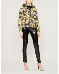 Versace Jeans - Logo Baroque-print Shell And Down-blend Coat - Lyst