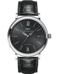 Iwc - Iw356502 Portofino Stainless Steel Watch - Lyst