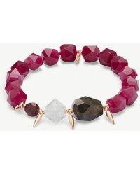 Kendra Scott - Sadie 14ct Rose Gold-plated And Maroon Jade Bracelet - Lyst