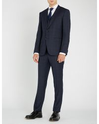 BOSS - Checked Regular-fit Wool Suit - Lyst
