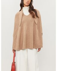 Co. - Necktie Wool And Cashmere-blend Poncho - Lyst