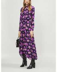 Maje - Ritunia Crossover-front Floral-print Dress - Lyst