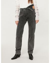 Y. Project - Asymmetric-waist High-rise Straight Jeans - Lyst
