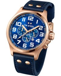 TW Steel | Tw407 Pilot Rose Gold Chronograph Watch | Lyst