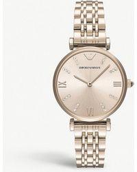 Emporio Armani - Gianni Stailess Steel Watch - Lyst