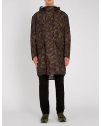 HUGO - Camouflage-print Faux-shearling Lining Parka - Lyst