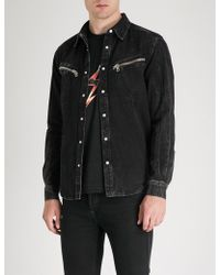 Givenchy - Faded Denim Shirt - Lyst