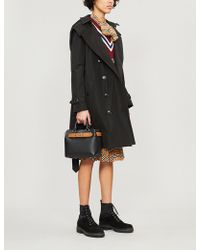 Burberry - The Kensington Check-lined Cotton-gabardine Trench Coat - Lyst