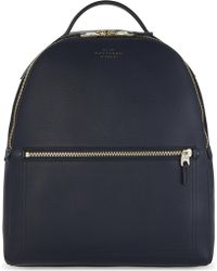Smythson - Burlington Small Grained Leather Backpack - Lyst