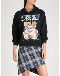Moschino - Teddy Bear-print Cotton-jersey Hoody - Lyst