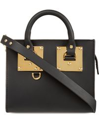 Sophie Hulme - Mini Box Leather Albion Tote - Lyst
