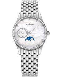 Zenith - 16.2310.692.81.m2310 Elite Moonphase Stainless Steel Watch - Lyst