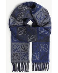 Loewe - Anagram Wool And Cashmere Scarf - Lyst