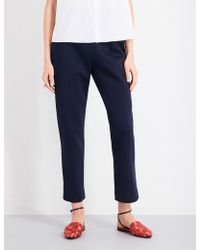 Delpozo - Tapered Cropped Neoprene Trousers - Lyst