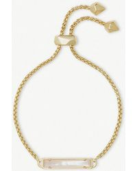 Kendra Scott - Stan 14ct Yellow Gold-plated And Ivory Mother-of-pearl Bracelet - Lyst