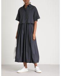Jil Sander - Forbes Wool And Silk Midi Dress - Lyst
