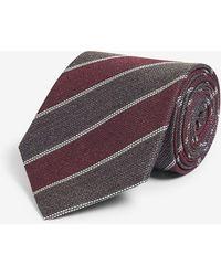 Eton of Sweden Diagonal Stripe Silk Tie