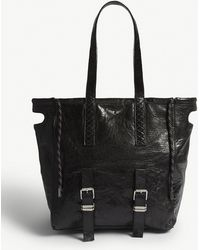 Zadig & Voltaire - Bianca Xl Crush Leather Shopper Bag - Lyst