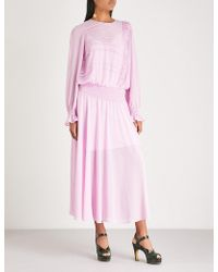 Preen Line - Salome Crepe Midi Dress - Lyst