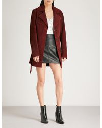 Free People - Agent 99 Suede Jacket - Lyst